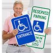 Entrance ADA Handicapped Sign