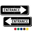 Entrance Directional Parking Sign