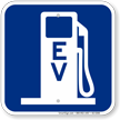 EV Electric Vehicle Charging Station Sign