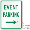 Event Parking With Arrow Sign