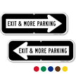 Exit & More Parking Directional Sign