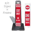 Exit Only No Re-Entry Lotboss Portable Sign Kit
