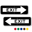 Exit Directional Parking Sign