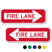 Fire Lane, Right Arrow Directional Parking Sign