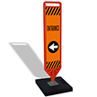FlexPaddle Portable Entrance Left Arrow Paddle Portable