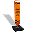FlexPost Sidewalk Closed Ahead Paddle Portable