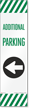 FlexPost Additional Parking Left Arrow Decal
