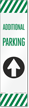 FlexPost Additional Parking Straight Arrow Decal