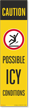 FlexPost Caution Possible Icy Conditions Decal