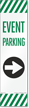 FlexPost Event Parking Right Arrow Decal