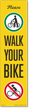 FlexPost Please Walk Your Bike Decal