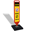 FlexPost Caution Possible Icy Conditions Paddle Portable