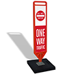 FlexPost Do Not Enter One Way Paddle Portable