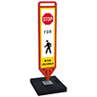 FlexPost Stop Pedestrian Crosswalk Paddle Portable