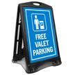 Free Valet Parking Sidewalk Sign