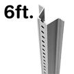 Municipal U-Channel Sign Post - 6' tall