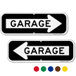 Garage Directional Parking Sign