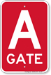 Gate A Gate ID Sign