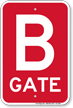 Gate B Gate ID Sign