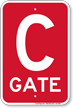 Gate C Gate ID Sign