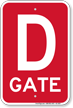 Gate D Gate ID Sign