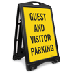 Guest And Visitor Parking Sidewalk Sign