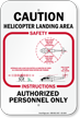 Helicopter Landing Area Authorized Personnel Sign