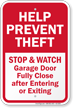 Anti-Theft Sign