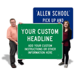 Customizable Horizontal Sign Template