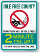 State Idle Sign for Salt Lake County, Utah