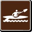Kayak Symbol Sign For Campsite
