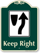 Keep Right Signature Sign