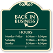 Leasing Center Back In Business Custom Signature Sign