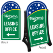 Leasing Office With Arrow Symbol Sidewalk Sign Kit