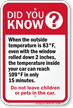 Do Not Leave Children or Pets Hot Car Sign