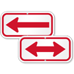Left Arrow, Supplemental Parking Sign, Red