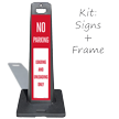 Loading And Unloading Only LotBoss Portable Sign Kit