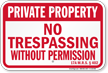 Maine Private Property Sign