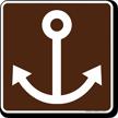 Marine Recreation Area Symbol Sign For Campsite