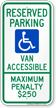 North Carolina ADA Handicapped Parking Sign