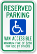 Nevada ADA Handicapped Parking Sign