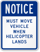 Helipad Notice Sign