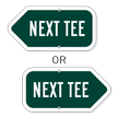 Next Tee Golf Course Sign