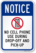 No Cell Phone OSHA Notice Sign