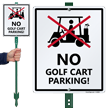 No Golf Cart Parking LawnBoss Sign