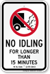 State Idle Sign for West Virginia