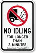 State Idle Sign for Rockland, New York