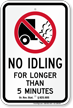 State Idle Sign for Oregon