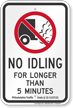 Philadelphia City No Truck Idling For Longer Than 5 Minutes Sign