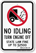 State Idle Sign for Hawaii